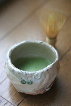 This is traditional Japanese matcha tea. It is basically high quality green tea leaves ground into powder and hence contains high level of anti-oxidants.