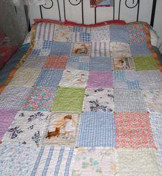 Quilts & Patchwork - Nostalgie-Quilt - 16000 Handstiche - ein Designerstück von Wilhelmine-Wiesenkraut bei DaWanda