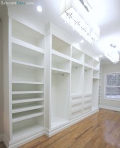 Love This Closet   Love The Trim, Layout And Lighting!
