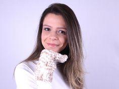 Arte Brasil | Luva em tricô e cachecol tijolinho - Claudia Maria