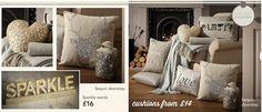 Sparkle, cushions