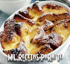 Mil Recetas para Ti: Torta de Pan Inglés , Leche y Mantequilla