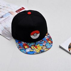 Japanese Famous Animation Cartoon Comic Cute Lovely Pokemon GO Pocket  Monster Pikachu Flat Snapback Caps Hat for Adult Men Women 093ad9cf956