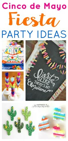 Cinco de Mayo Party Ideas - great ideas for your next fiesta! Also great for a cactus or southwestern themed party! - Happiness is Homemade