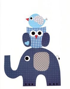1303 Elephant Owl Bird Nursery Artwork Print Baby Room Decoration Kids Room Decoration Gifts 20 print wall art sail away with me Applique Templates, Applique Patterns, Applique Quilts, Quilt Patterns, Bird Nursery, Nursery Artwork, Quilt Baby, Owl Bird, Baby Shower Presents