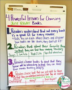 Day Six: 4 Powerful Lessons for Choosing Just Right Books - Out of this World Literacy Reading Resources, Teaching Reading, Guided Reading, Good Fit Books, 3rd Grade Classroom, Future Classroom, Just Right Books, Interactive Read Aloud, Readers Workshop