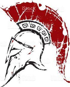 Spartan-Helm Lizenzfreies vektor illustration