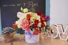 Flower arrangement Box With flowers