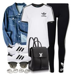 """""""Style #11575"""" by vany-alvarado ❤ liked on Polyvore featuring adidas Originals, Topshop and Ray-Ban"""
