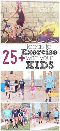 Ideas to Exercise with Kids Ideas for Exercising with your Kids - fun family fitness & exercise! Ideas for Exercising with your Kids - fun family fitness & exercise! Sport Fitness, Fitness Goals, Fitness Motivation, Health Fitness, Women's Fitness, Workout Fitness, Healthy Kids, Get Healthy, Healthy Meals