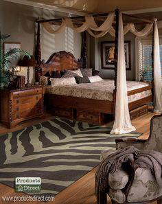 British Colonial Bedroom.