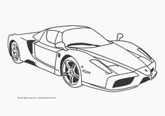 super car ferrari enzo coloring page cool car printable free