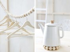 DIY with wooden beads - love the clothesline for a potential craft fair booth