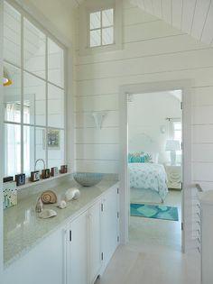 Surfside Chic Nantucket - beach style - bedroom - boston - by Donna Elle Seaside Living
