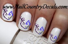 "#nails #sale #country #hot #coupon code ""PINTEREST"" Saves You 15% On Your Order 50pc Blue On Purple Real Tree Mossy Oak DBL Browning Love Nail Decals Nail Art Nail Stickers Best Price NC1460"