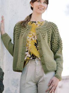 Ravelry: Aija Cardigan pattern by Lea Petäjä Lace Patterns, Knitting Patterns, Intarsia Knitting, Free Knitting, Crochet Cardigan Pattern, Top Pattern, Cardigans For Women, Wool Sweaters, Stylish