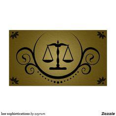 sofisticações da lei cartão de visita