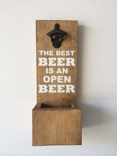 Take Your Top Off Mounted Beer Bottle Opener By