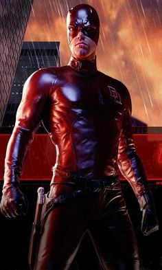 """BEN AFFLECK as Daredevil (2003) - Daredevil is an American superhero film based on the Marvel Comics character. Matt Murdock is a blind lawyer in New York City's Hell's Kitchen & runs a firm with best friend Franklin """"Foggy"""" Nelson, who only defends innocent clients & does not require monetary payment. As a child, Matt was blinded by a toxic waste spill over his eyes while taking a shortcut home from school after discovering that his father, former boxer Jack """"The Devil"""" ..."""