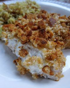 Sour Cream Chicken. I just made this. Super easy and good. I recommend ALOT of sour cream! So good. I also used chicken stuffing on to instead of croutons :) I've also read that someone used fried onions which I will be trying soon.