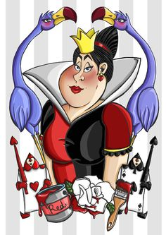 Alice in Wonderland Queen of Hearts Art Print by HungryDesigns on Etsy Alice In Wonderland Animated, Alice In Wonderland Bag, Lewis Carroll, Queen Of Hearts Disney, Queen Of Hearts Tattoo, Queen Alice, Alice White, Disney Queens, Wonderland Tattoo