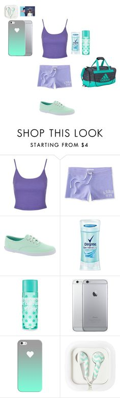 """""""My Motivation (6)"""" by ashyrosepetal on Polyvore featuring Topshop, Aéropostale, Keds, Degree, Casetify and adidas"""