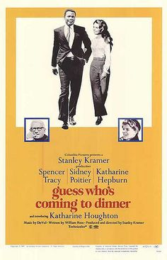 Guess Who's Coming to Dinner is a 1967 drama film starring Spencer Tracy, Sidney Poitier and Katharine Hepburn, and featuring Katharine Houghton. It was produced and directed by Stanley Kramer, and written by William Rose. The movie's Oscar-nominated score was composed by Frank DeVol.   The groundbreaking story deals with the controversial subject of interracial marriage, which historically had been illegal in most of the United States, and was still illegal in seventeen southern American…
