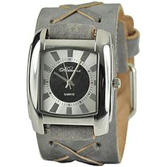 0cf8cf841f5 Nemesis Women s Charcoal Sunshine Leather Watch