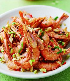 Bibimbap Recipe, Chinese Food, Shrimp, Seafood, Asian, Meat, Recipes, Cooking, Sea Food