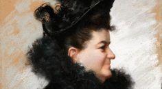 Este es un retrato de Emilia hecho por Joaquín Vaamonde.