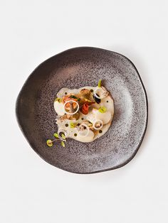 Needlefish and purple artichoke barigoule by chef André Chiang of ANDRE. ©…