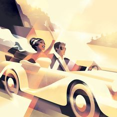 p/modern-art-deco-style-and-vintage-graphics-posters-by-mads-berg - The world's most private search engine Art Deco Illustration, Digital Illustration, Vintage Art Prints, Vintage Posters, Moda Art Deco, Art Deco Stil, Inspiration Art, Retro Poster, Kunst Poster