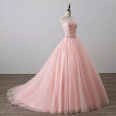 Vestido de fiesta Rosa princesa Quinceañera vestidos niñas con cuentas mascarada graduación dulce 16 vestidos de baile vestidos de 15 anos
