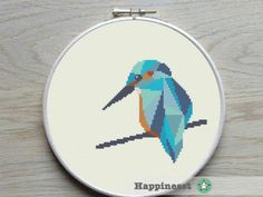 Dare to fly with bird inspired cross stitch pattern to create samplers, gifts…