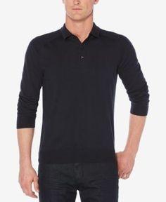 Perry Ellis Men's Polo Shirt - Blue 2XL