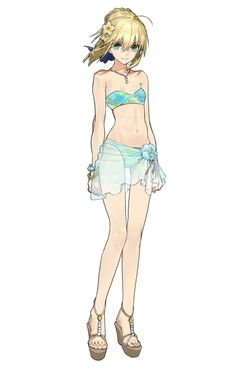Artoria, Resort Vacation Outfit from Fate/Extella: The Umbral Star