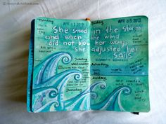 Jennys Sketchbook: April Journal Pages. So lovely and inspirational, wish I could journal/paint/draw like this.