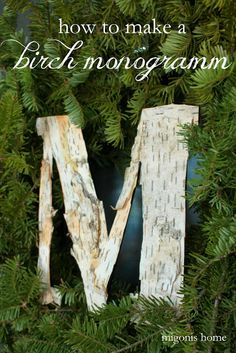 How to make a birch bark monogram by Migonis Home
