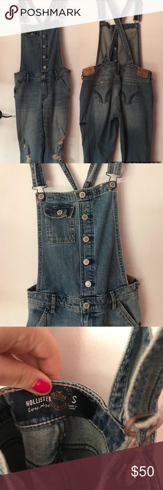 Hollister NWT Overalls Size Small This is a pair of Hollister new with tab overalls in a size small. Very on trend and never worn before. Cool button detailing and cute. Bundle up! Hollister Jeans Overalls
