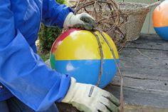 wrap beach ball and grapevine craft ideas