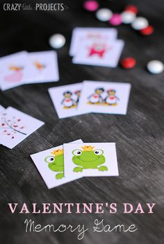 Perfect for parties! Free Printable Valentine's Memory Game