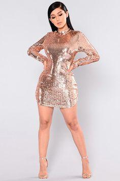 a65057b7d Long Sleeve Sequin Short Dress with high neck design. Online Store for Women  Sexy Dresses