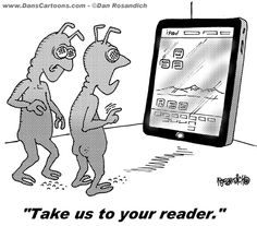 iPad space alien cartoons