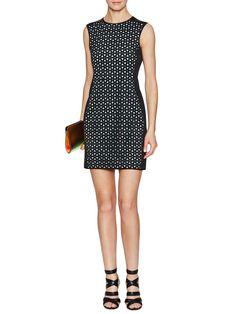 Anna Laser Cut Sleeveless Dress