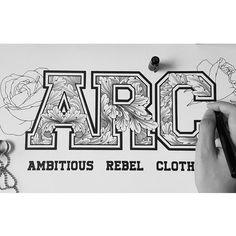 311 отметок «Нравится», 1 комментариев — ♠SPIDER MONEY♣ (@oneiscool) в Instagram: «Ambitious Rebel Clothing : Ornamental Typography with the outline of roses #typography #ARC #logo…»