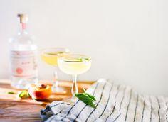 Peach Basil Gin & Tonic