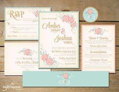 Wedding Invitation Inspiration - floral 4