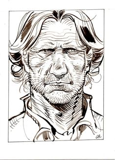 Portrait de Red Neck par Jean Giraud - Illustration