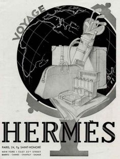 Hermes art deco era ad - consider framing an old poster like this to add a little of the Art Deco trend to your home