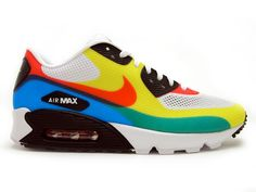"Nike Air Max 90 ""Olympic"" (White/Sport Red-Soar)"